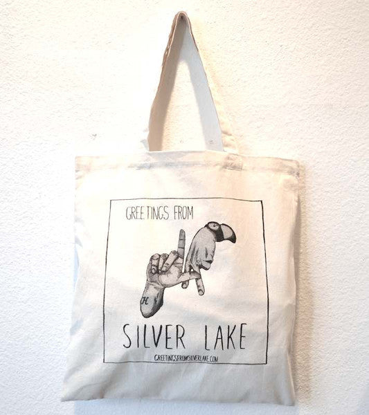 Hemingway and Pickett- Greetings From Silver Lake Tote Bag