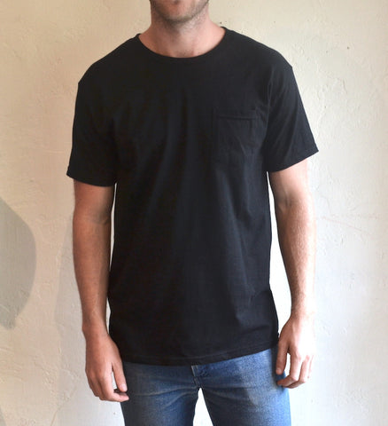 Hemingway and Sons - Common Tee Pocket Black