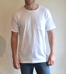 Hemingway and Sons - Common Tee Pocket White