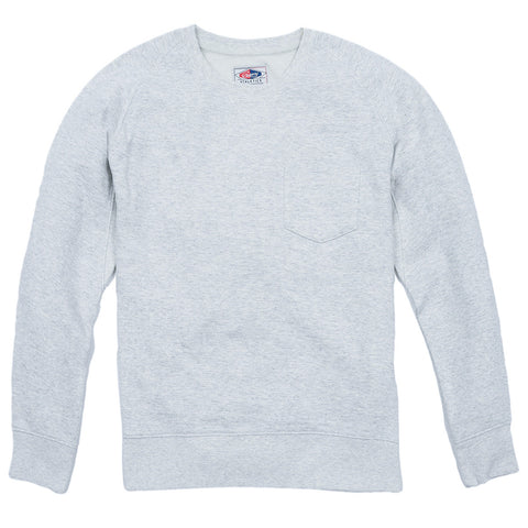 Grayers - Athletic Brushed French Terry Crew (Light Oatmeal Heather)