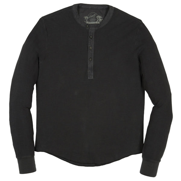Grayers - Campesina Double Cloth Thermal Henley - Battleship Gray