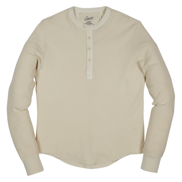 Grayers - Campesina Double Cloth Thermal Henley - Oatmeal