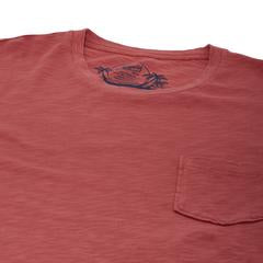 Grayers - Madison Jaspe Loose Knit Pocket Tee - Dusty Cedar