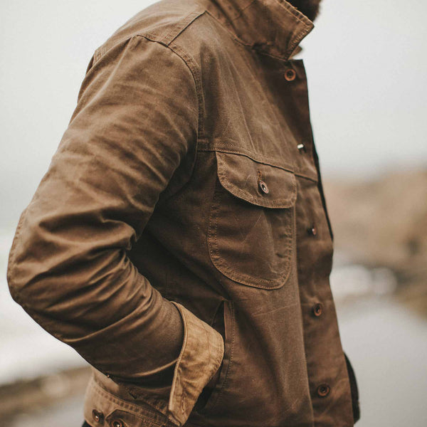 Taylor Stitch - Long Haul Jacket<br>Field Tan Waxed Canvas