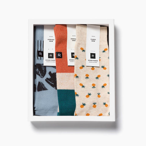 Richer Poorer - Easy Breezy 3-Pack Socks Gift Box for Men