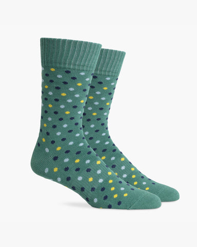 Richer Poorer- Men's Confetti Socks - Green Navy