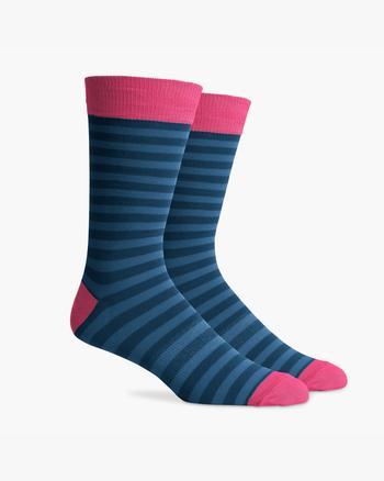 Richer Poorer - Men's Theo Socks - Blue Pink