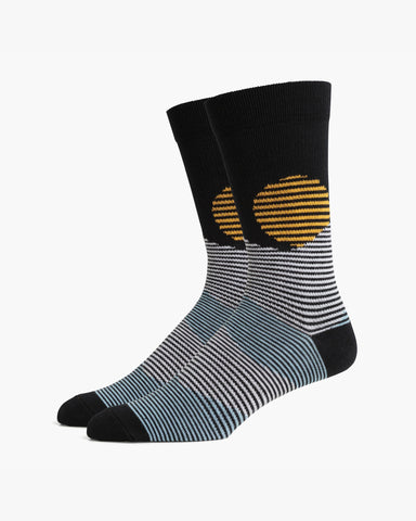 Richer Poorer - Men's Oakley Socks - Black and White