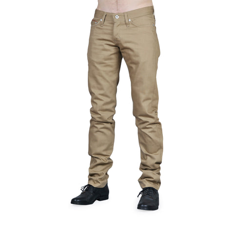 Naked & Famous - Weird Guy Jeans <br>Beige Selvedge Chino