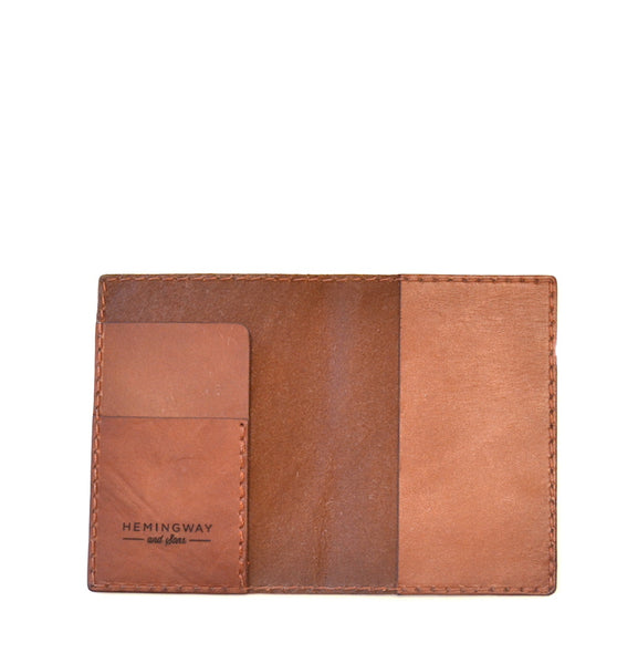 Hemingway and Sons - Passport Wallet Brown