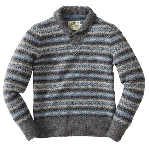 Grayers - Fairisle Shawl Pullover - Multicolor