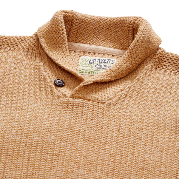 Grayers - Belmont Shawl Pullover - Caramel