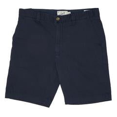 "Grayers - Bermuda Stretch Cotton Linen Shorts 9"" - Blue Night"