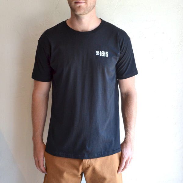 "Silver Lake Track Club - ""Armstrong"" Tee Black"
