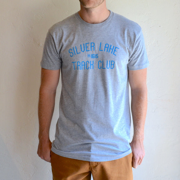 "Silver Lake Track Club - ""Armstrong"" Tee Grey"