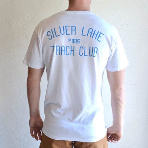 "Silver Lake Track Club - ""Armstrong"" Tee White"