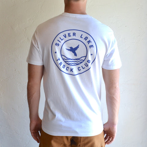 "Silver Lake Track Club - ""Hummingbird"" Tee White"