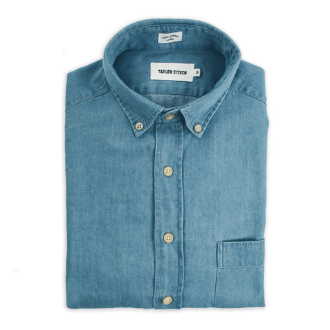 Taylor Stitch Oxford Jack <br>Sun Bleached Denim