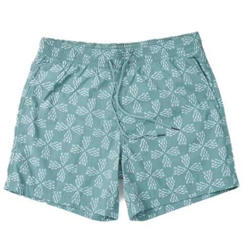 "Grayers - Moorea Swim Trunks 6"" Sage Sprinkler Plus"