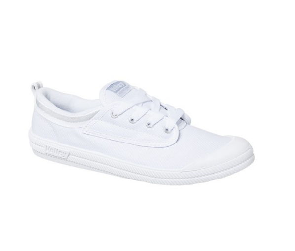 Volley International Canvas Tennis Shoe <br> White/Light Grey