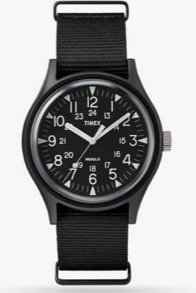 Timex MK1 Aluminum 40mm Nylon Watch Black