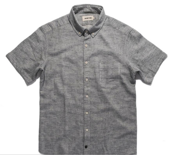 Taylor Stitch - Short Sleeve Jack<br>Heather Navy