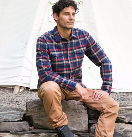 Grayers - Eugene Heritage Flannel Navy Plaid
