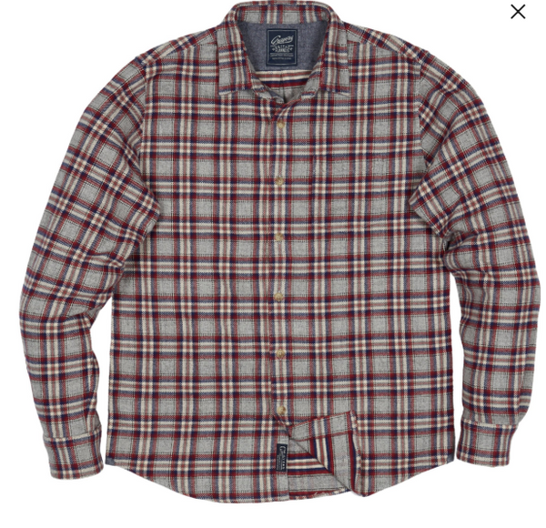 Grayers - Milbank Heritage Flannel Gray Red Plaid