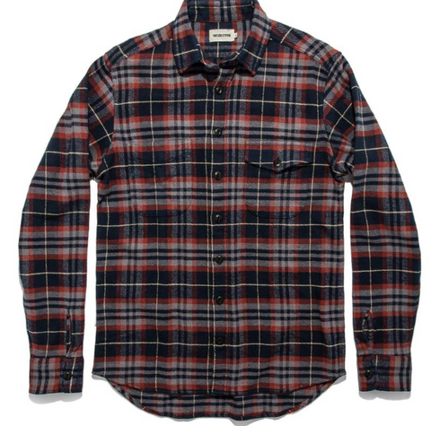 Taylor Stitch - Crater Shirt <br>Burgundy Plaid
