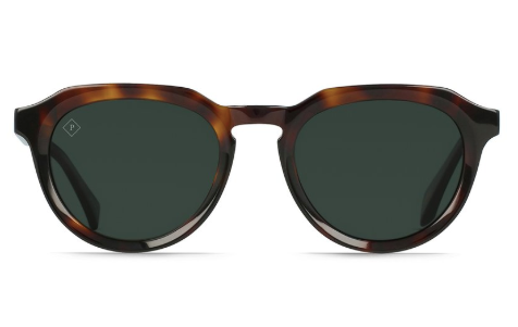 RAEN - Sage Sunglasses - Kola Tortoise/Green Polarized