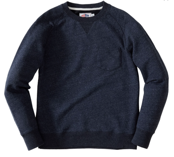 Grayers - Palmer Athletic Fleece Crew Sweatshirt - Navy Marl