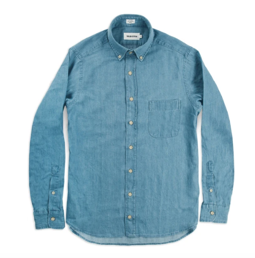 Taylor Stitch - Oxford Jack - Sun Bleached Denim