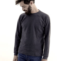 Jungmaven - Sierra Raglan Sweatshirt - Washed Black