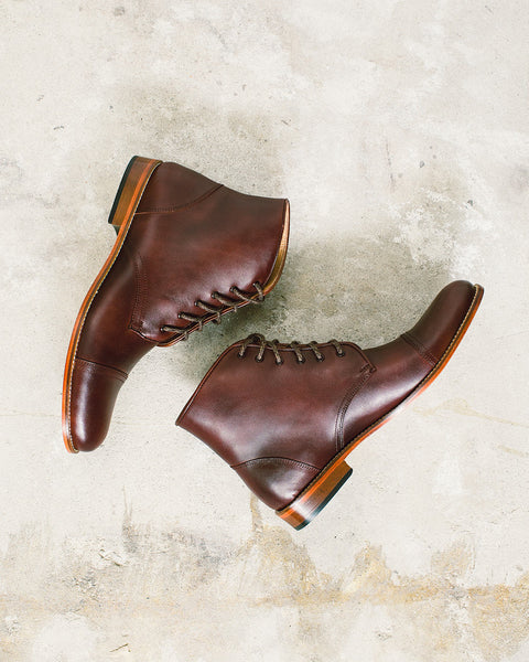 Tawny Goods - Cap Toe Boots <br>Brown