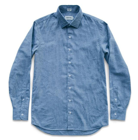 Taylor Stitch - Hyde Shirt <br> Brushed Sky Melange