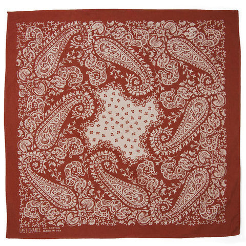 Last Chance - Handmade Cotton Bandana <br> Terracotta