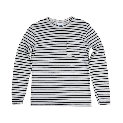 Jungmaven - Baja Long Sleeve Pocket Tee <br> Classic Stripe