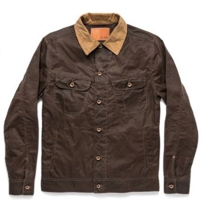 Taylor Stitch - Long Haul Jacket<br>Tobacco Waxed Canvas