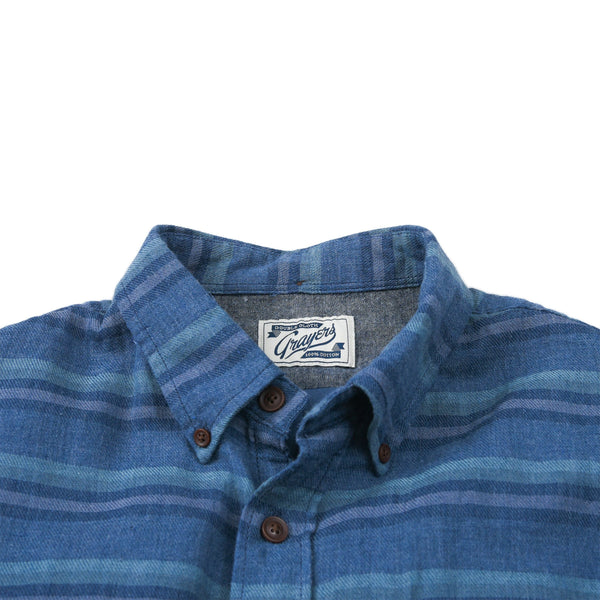 Grayers - Harcourt Double Cloth Shirt - Navy Heather Blue