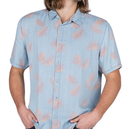 Barney Cools - Holiday Short Sleeve Shirt - Indigo Fern