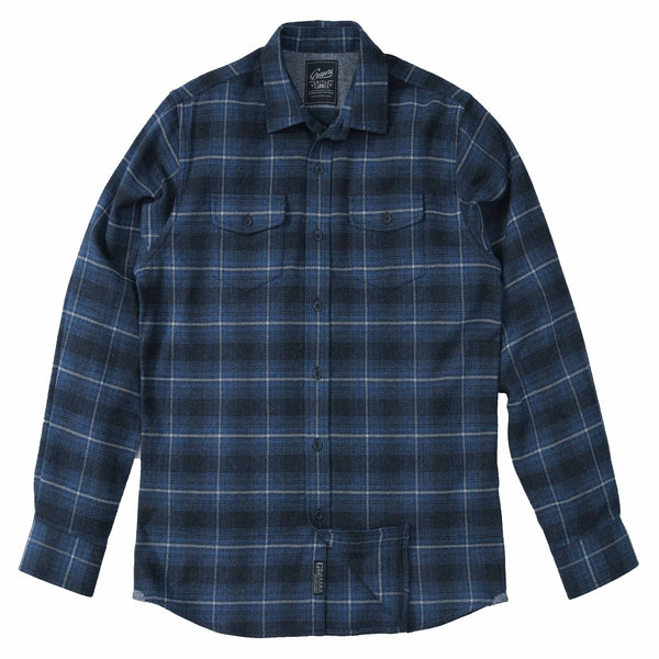 Grayers - Clarke Heritage Flannel - Blue Charcoal