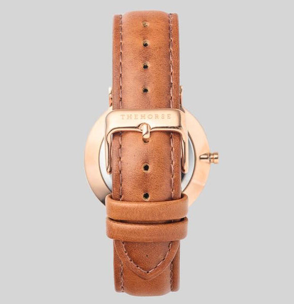 The Horse - The Classic Watch <br> Rose Gold/Tan Band