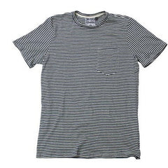 Jungmaven Yarn Dyed Short Sleeve Pocket Tee Shirt <br> Blue Stripe