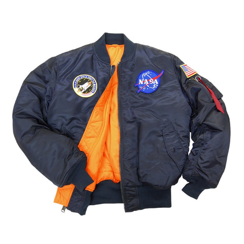 Alpha Industries - MA-1 NASA Flight Jacket <br> Replica Blue