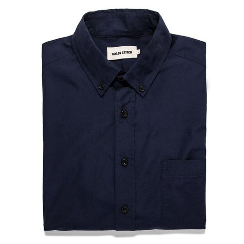 Taylor Stitch Oxford Jack <br>Washed Navy Poplin