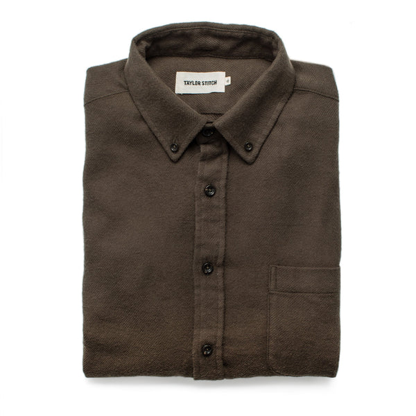 Taylor Stitch - The Jack Shirt <br> Olive Brushed Organic Cotton