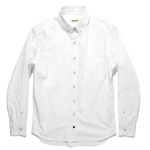 Taylor Stitch - The Jack Shirt <br>Washed White Poplin