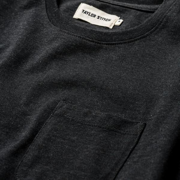 Taylor Stitch - The Heavy Bag Tee in Black Melange