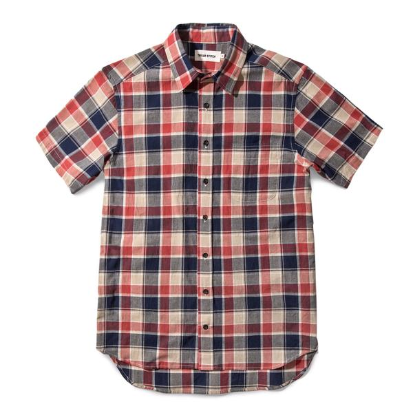 Taylor Stitch - California Short Sleeve Shirt Red Plaid