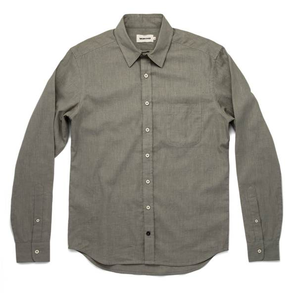 Taylor Stitch - The California - Olive Hemp Poplin